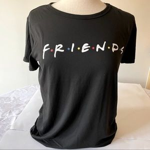 Friends Graphic Short Sleeve Tee Black Size M
